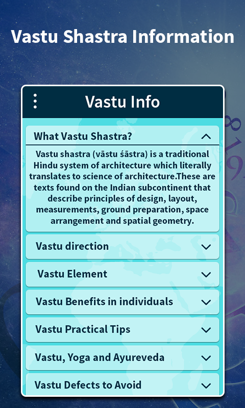 Vaastu Shastra Compass Screenshot 7