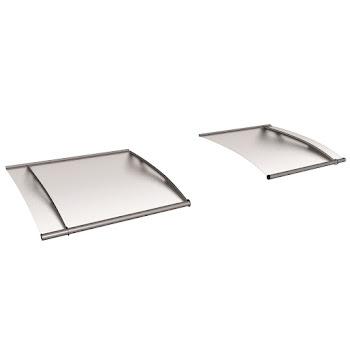 Auvent marquise de porte, module de base XL, verre acrylique, fixation inox, 287 x 142 cm