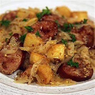 Smoked Sausage with Potatoes, Sauerkraut & Ale Recipe