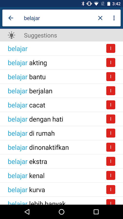 Indonesian English Dictionary- screenshot