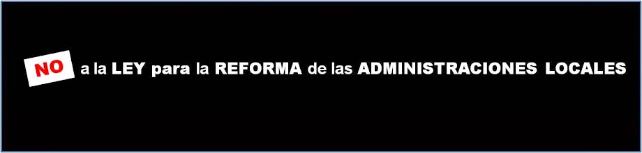 Photo: Ley Reforma Administraciones locales.