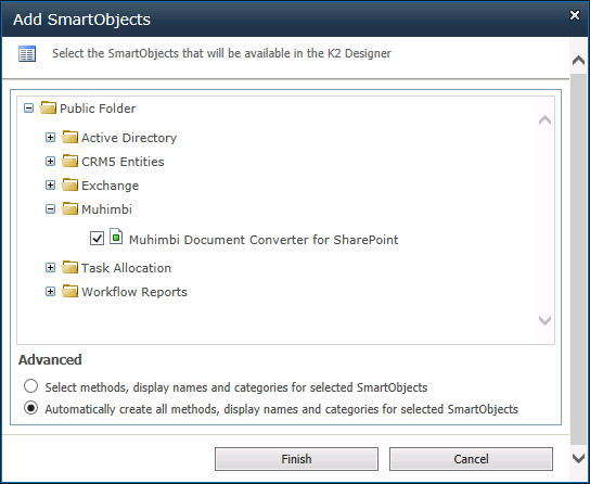 Enable K2 Designer SmartObject