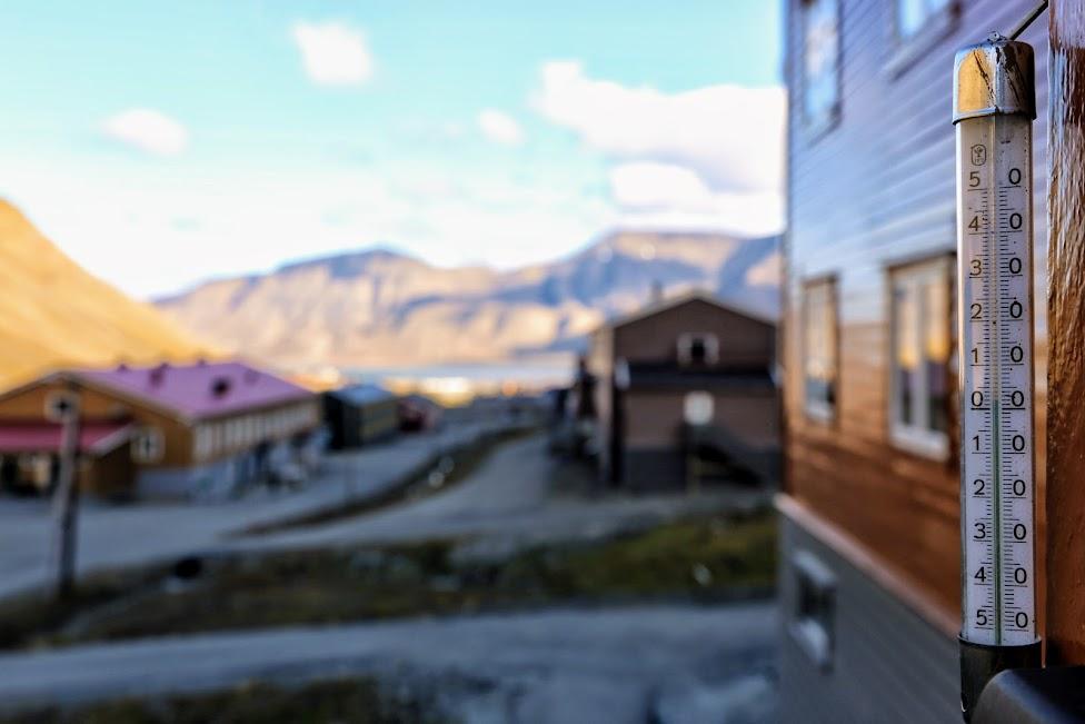 Longyearbyen, termometr