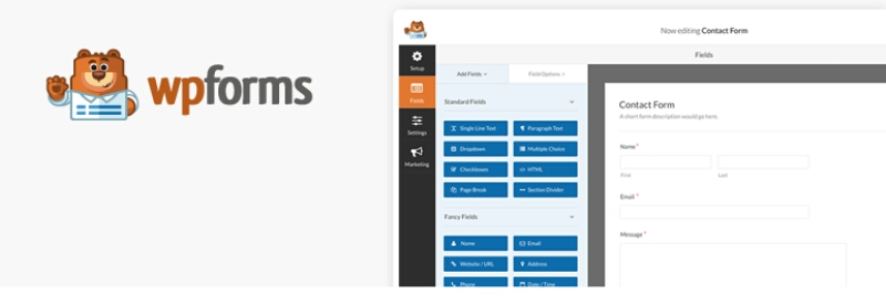 free contact form builder for wordpress