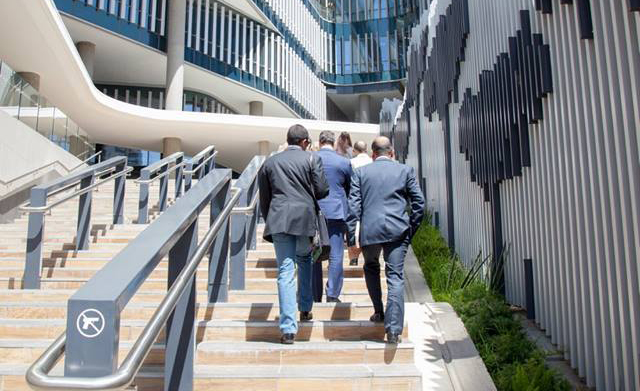 Step up: Leaders on the Move participants visit top CEOs along the way. Picture: LEADERS ON THE MOVE