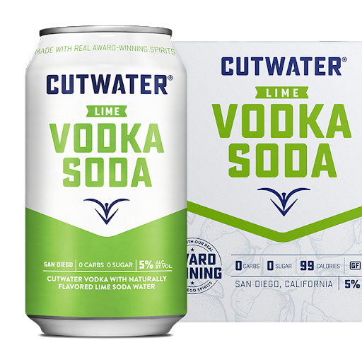 Cutwater Vodka Soda with Lime