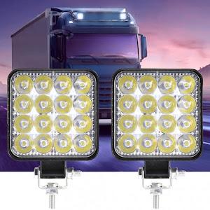 Set 2 proiectoare LED auto offroad 48W, 16 LED, 12V-24V