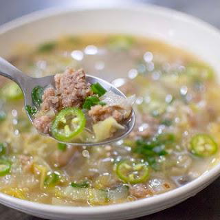 Gyoza Mushroom Soup.