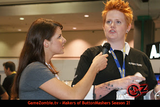 Photo: Chelsey talks with Juli Logemann from Spyborg