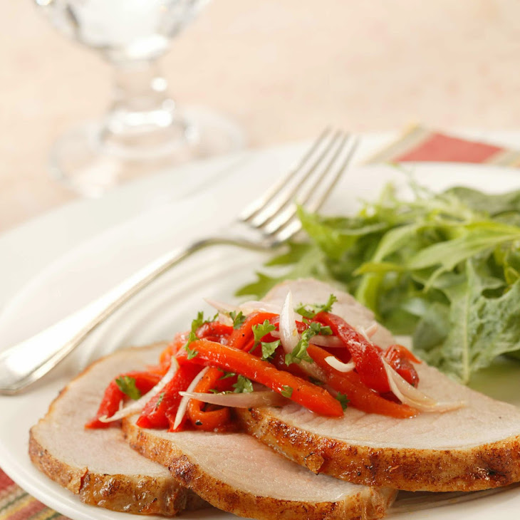 Spanish-Inspired Grilled Pork Roast Recipe