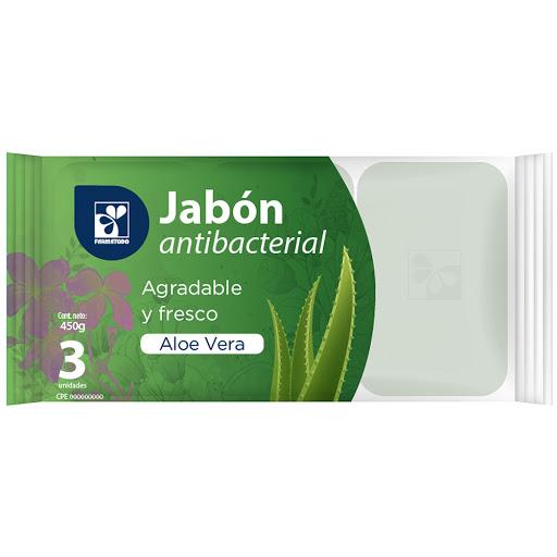 Jabon En Barra Farmatodo Antibacterial Aloe Vera 3Und 150Gr