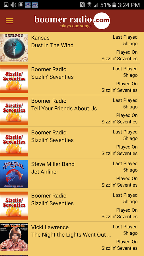 Boomer Radio- screenshot