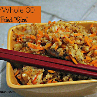 "Shrimp Fried ""Rice"" (Paleo diet recipes)"