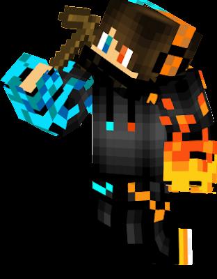 esta es la skin oficial de el youtuber GCRAFT55 creada por el mismo suscribance a mi canal si leen esto