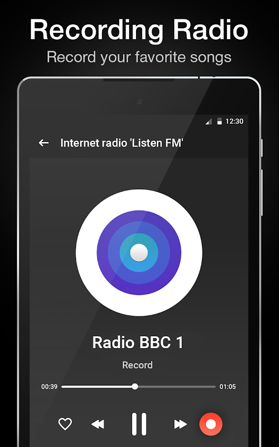 "Internet radio ""Listen FM""- screenshot"
