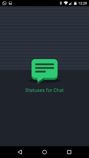 Status for chat