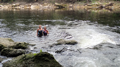 Photo: Sharon and Krin enjoy the water