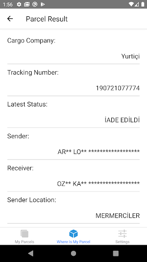 Where is My Parcel screenshot 2