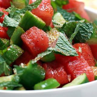 Persian Cucumber Watermelon Salad from Pig Beach NYC