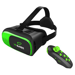 Ochelari virtuali compatibili Google Cradboard cu telecomanda Bluetooth