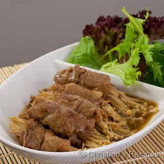 Japanese Enoki Beef Rolls.