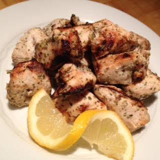 Grilled Chicken Souvlaki.