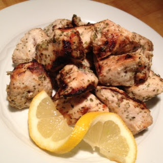 Grilled Chicken Souvlaki.