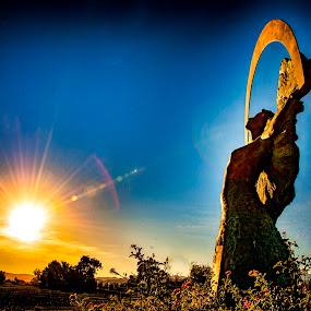 Mother Nature in Her Glory  by Jennifer Eaton Roberts - City,  Street & Park  Historic Districts ( wine country, color, sunset, dusk, mother nature )