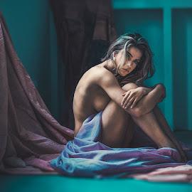 Tired by Atanas Donev - Nudes & Boudoir Boudoir ( beautiful, color, nude, girl, near window,  )
