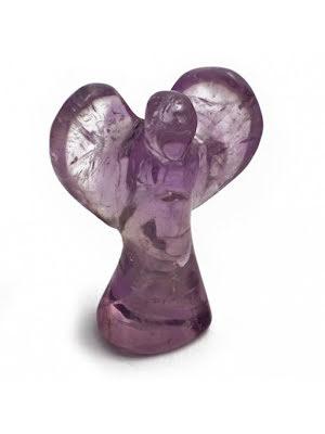 Ängel, staty i amrtist eller bergkristall