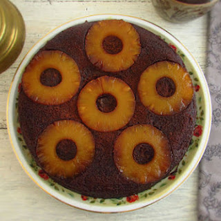 Chocolate Cake With Caramelized Pineapple