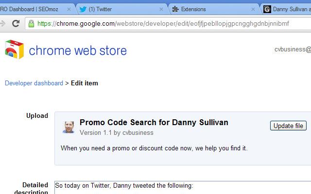 Promo Code Search for Danny Sullivan