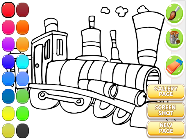 android Train Coloring Book Screenshot 12