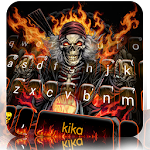Fire Skull Rider Keyboard Theme