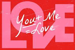 You Plus Me Equals Love - Postcard item