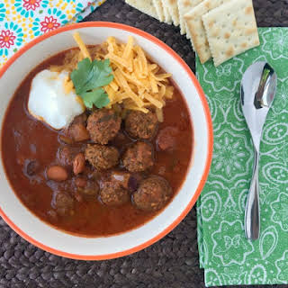 Meatball Chili Recipe For Stove Top OR Slow Cooker!.