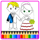 Bride and Groom Wedding Coloring Pages Mod