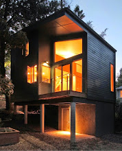 Photo: The 2013 Rebecca Hedly House, aka the Blue House, Asheville NC.  Designed by Maria Rusafova of Rusafova Markulis Architects.  Built by owner.