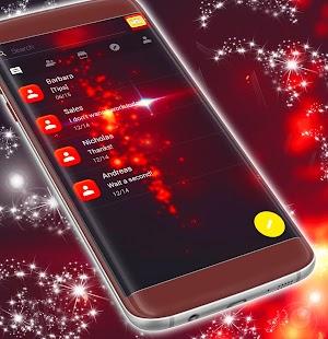 Red Sparkle SMS Theme - náhled