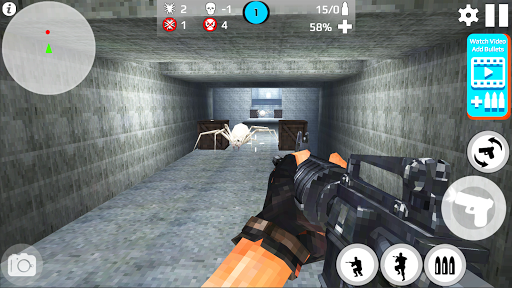 Pixel Survival Shot: Skeleton War  captures d'écran 1