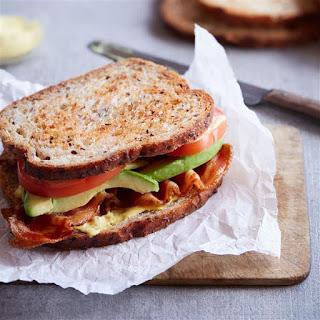 Grilled Bacon, Avocado & Tomato Sandwich.