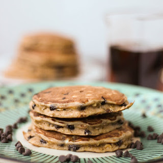 Valentine's Funfetti Pancakes with Vanilla Greek Yogurt Sauce