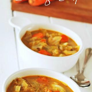 Vegan Cabbage Soup.