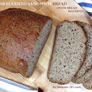 Low Carb Flaxseed Sandwich Bread (with Bread Machine).