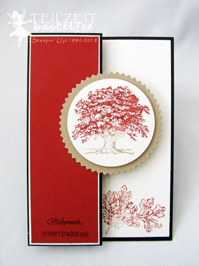 Stampin' Up! - Inkspire_me, Color Challenge, male birthday card, Männerkarte, Geburtstag, Lovely as a Tree, Bannerweise Grüße, Thoughtful Banners
