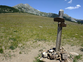 Photo: Trail sign on the way to Pecos Baldy