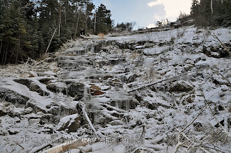 Photo: Tiers of ice await. The following few pics are of Scott climbing this area.