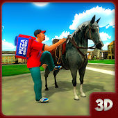 Pizza Horse Delivery Boy:Bakery Delivery games