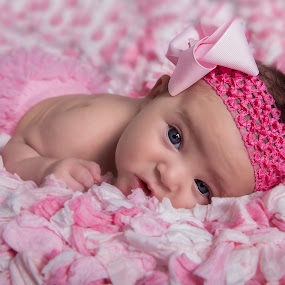 baby blue eyes by Melanie Ayers Wells-Photography - Babies & Children Babies ( girl, blue eyes, pink, baby )