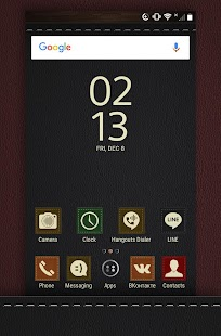 Texture Leather - Icon Pack Theme Screenshot